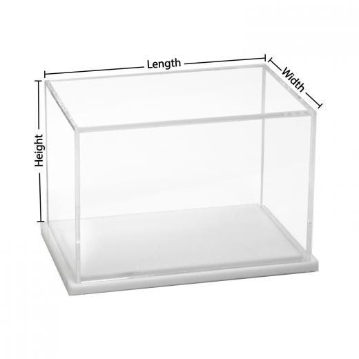 Custom Size Acrylic Display Box with White Base