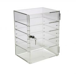 'Acrylic Locking Cabinet w/ 4 Adjustable Shelves' from the web at 'http://www.shoppopdisplays.com/mm5/graphics/00000001/AcrylicLockingCabw4Shelves_1_245x245.jpg'