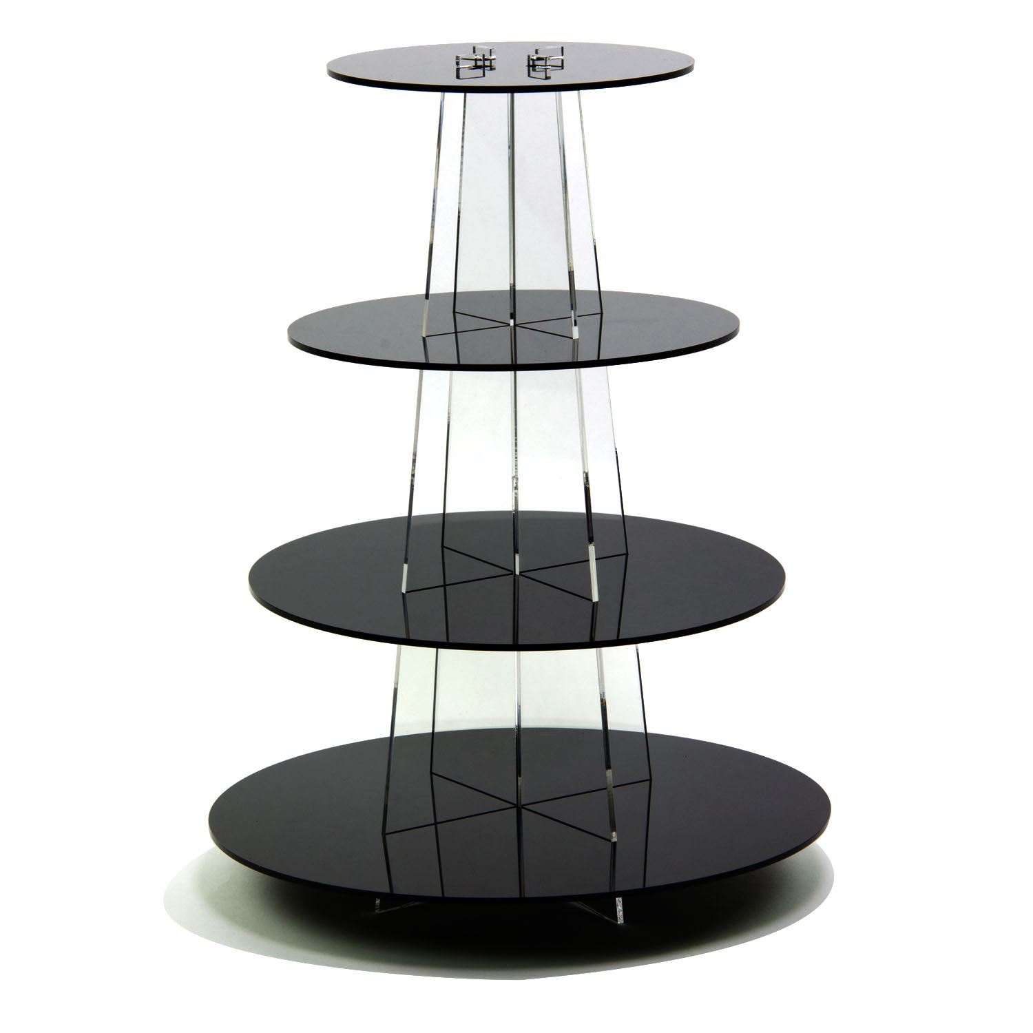 Black 4 Tier Round Cupcake Display Buy Acrylic Displays