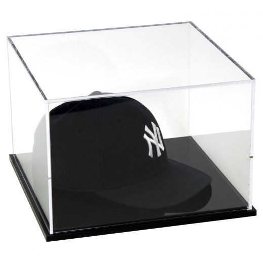 Acrylic Baseball Cap Display Case With Black Base 8 X 12 X 12
