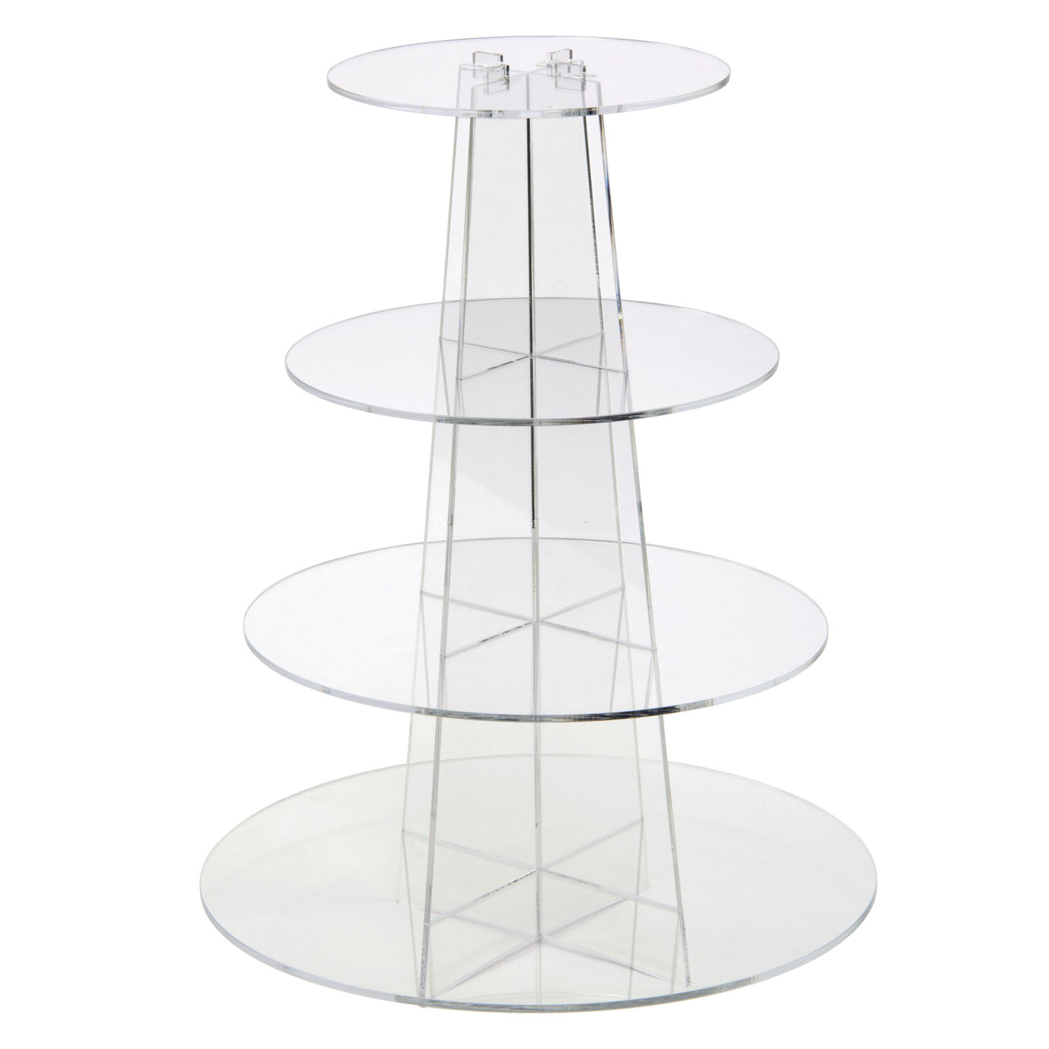 Clear 4 Tier Round Cupcake Display Buy Acrylic Displays