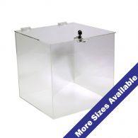 Acrylic 5 Sided Box W Cam Lock Lid