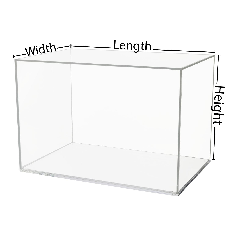 Custom Size Acrylic Display Box with Clear Base Buy