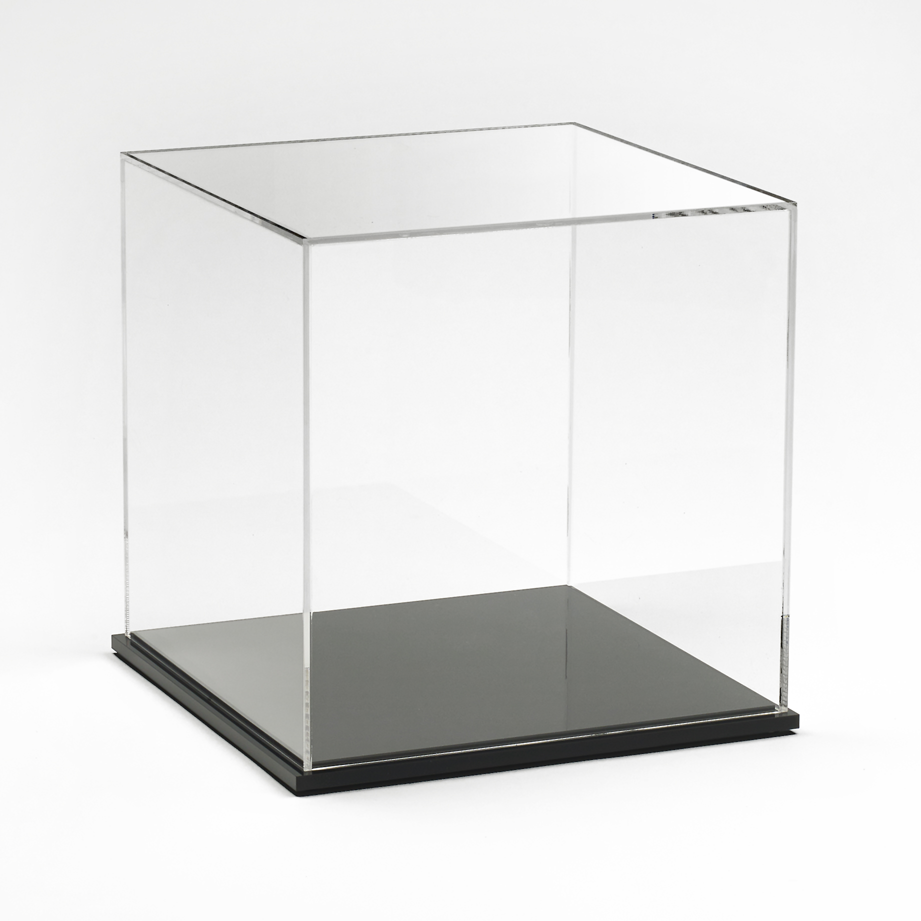 Acrylic Display Box 8 Quot X 8 Quot X 8 Quot With Black Base Buy