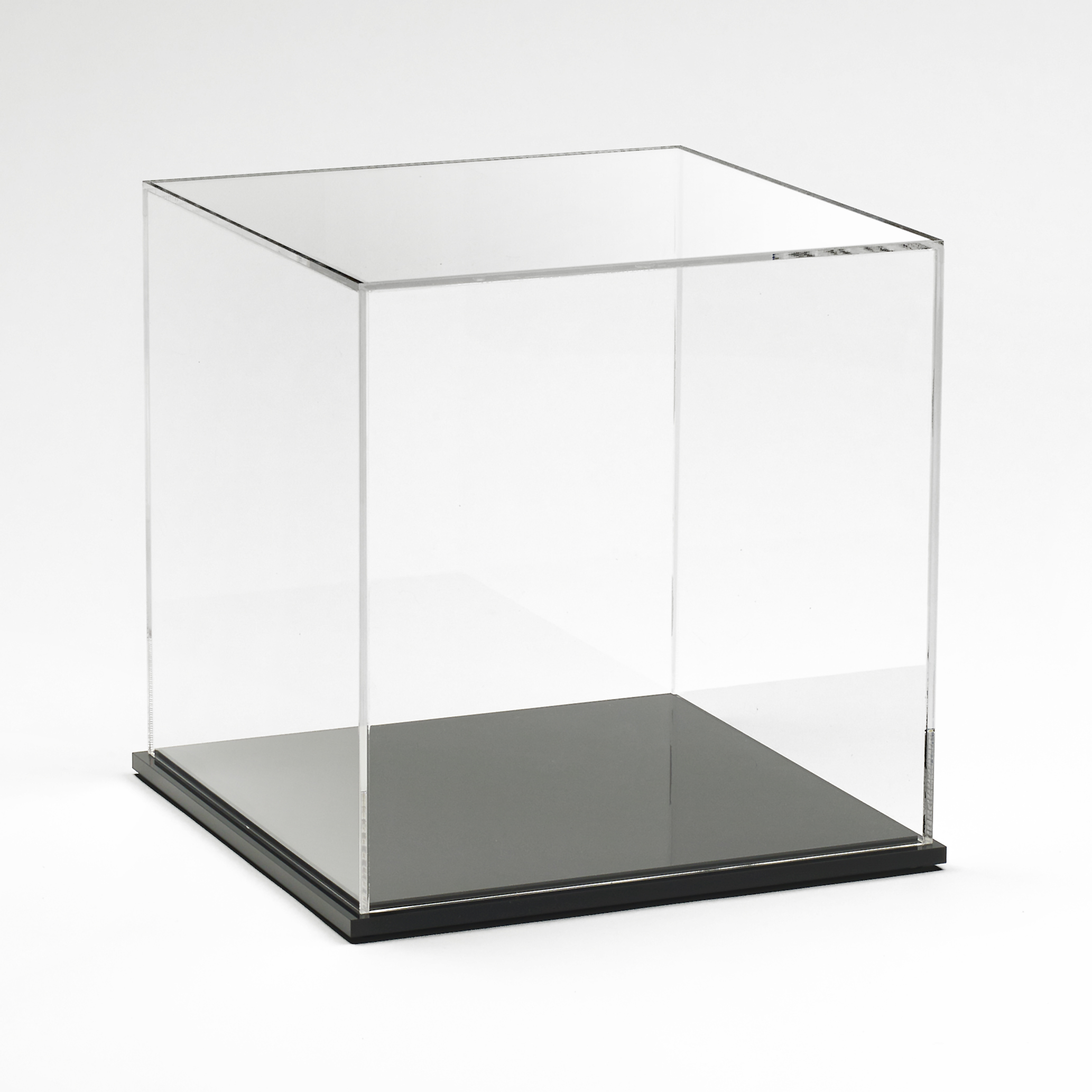 Acrylic Display Box 10 Quot X 10 Quot X 10 Quot With Black Base Buy