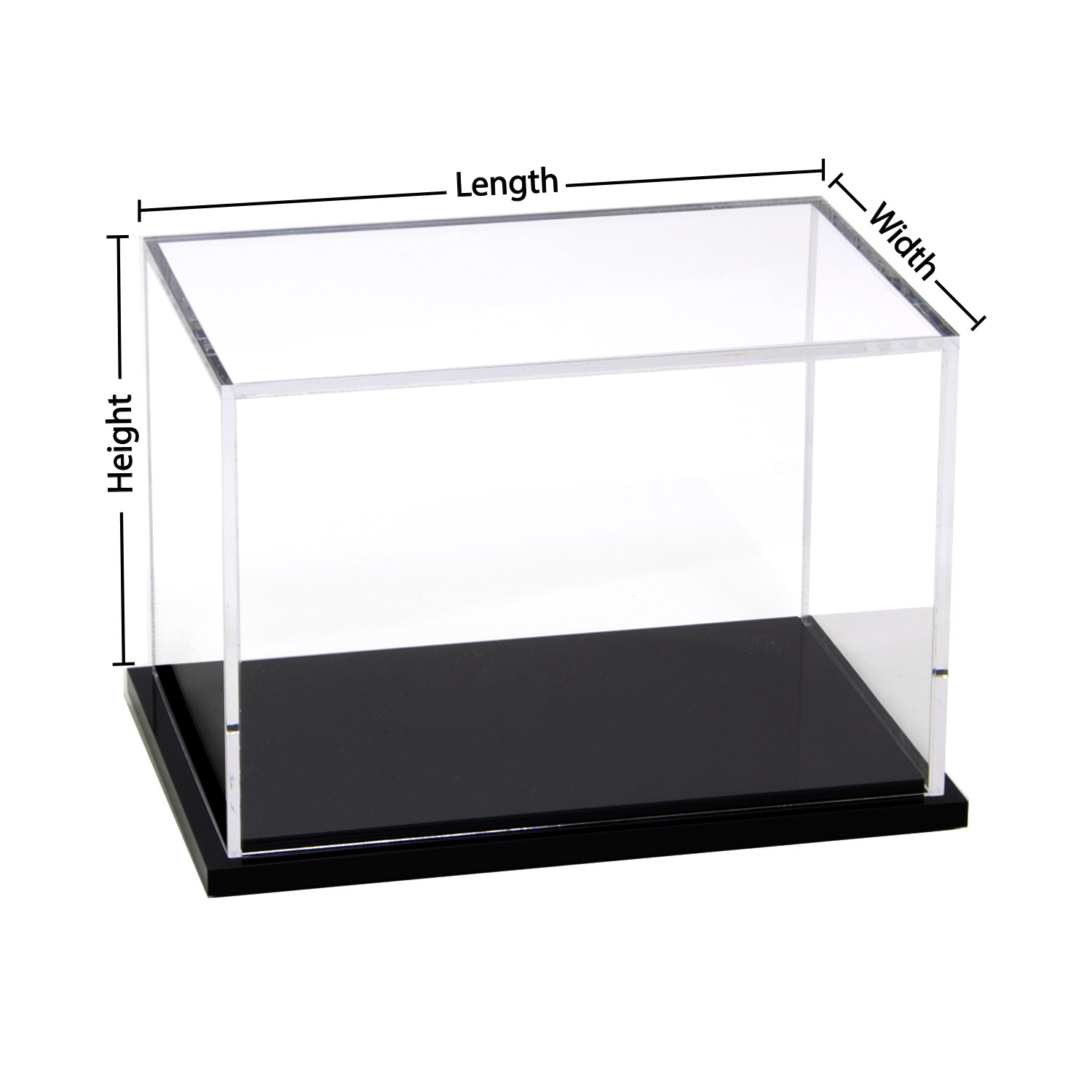 Custom Size Acrylic Display Box With Black Base Buy