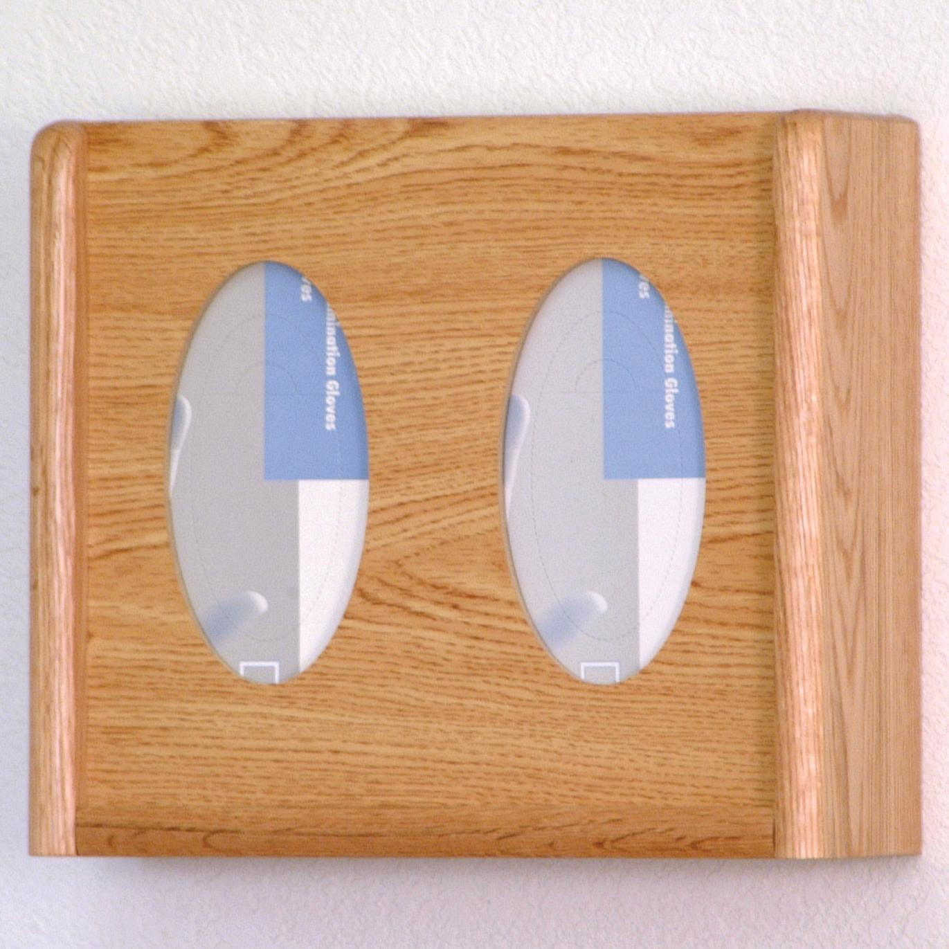 Light Oak Wall Mounted Double Glove Dispenser Buy