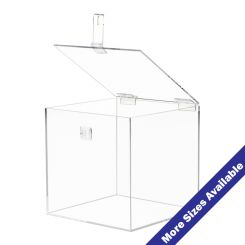 Acrylic Boxes With Hinged Locking Lids Shoppopdisplays
