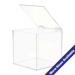 Acrylic Boxes With Hinged Amp Locking Lids Shoppopdisplays Com