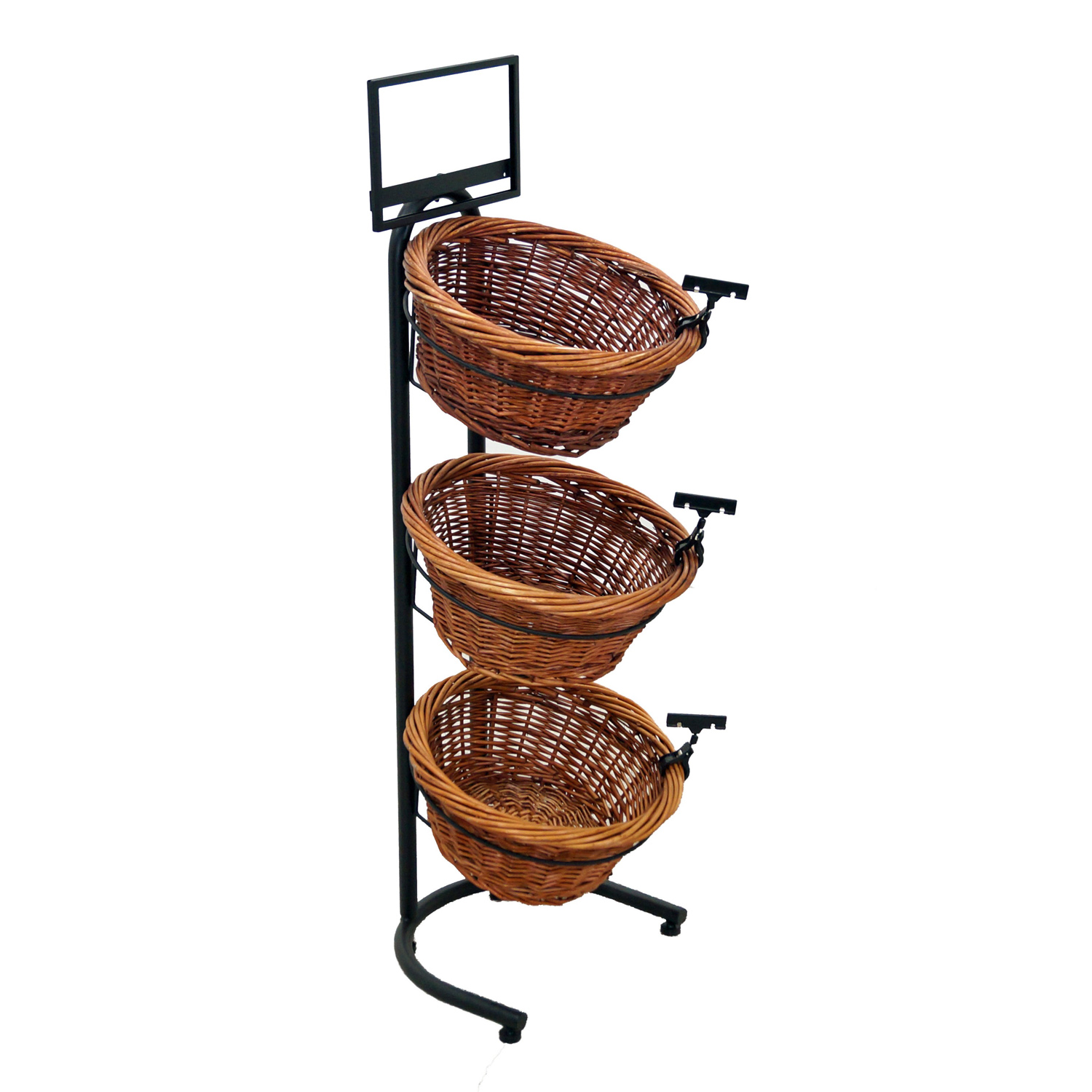 3 Tier Round Willow Basket Display Rack Buy Acrylic