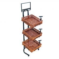 Floor Standing Basket Displays Shoppopdisplays Com