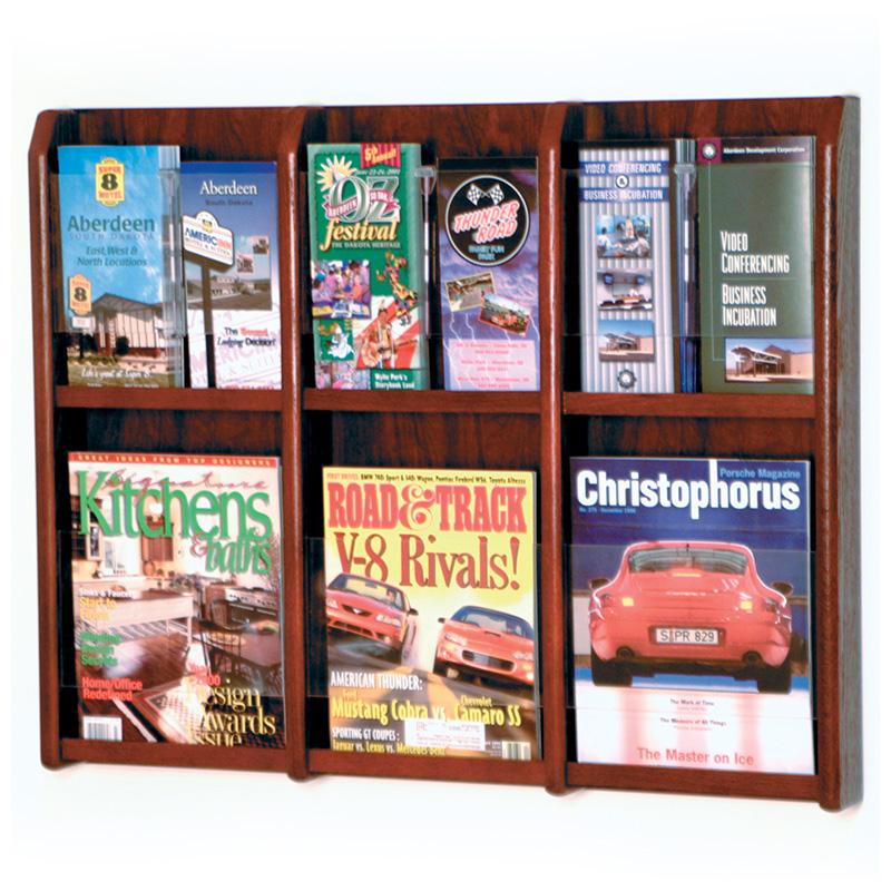 Mahogany Convertible Wall Mount Brochure Or Magazine Rack Buy Stunning Magazine Holders Cheap