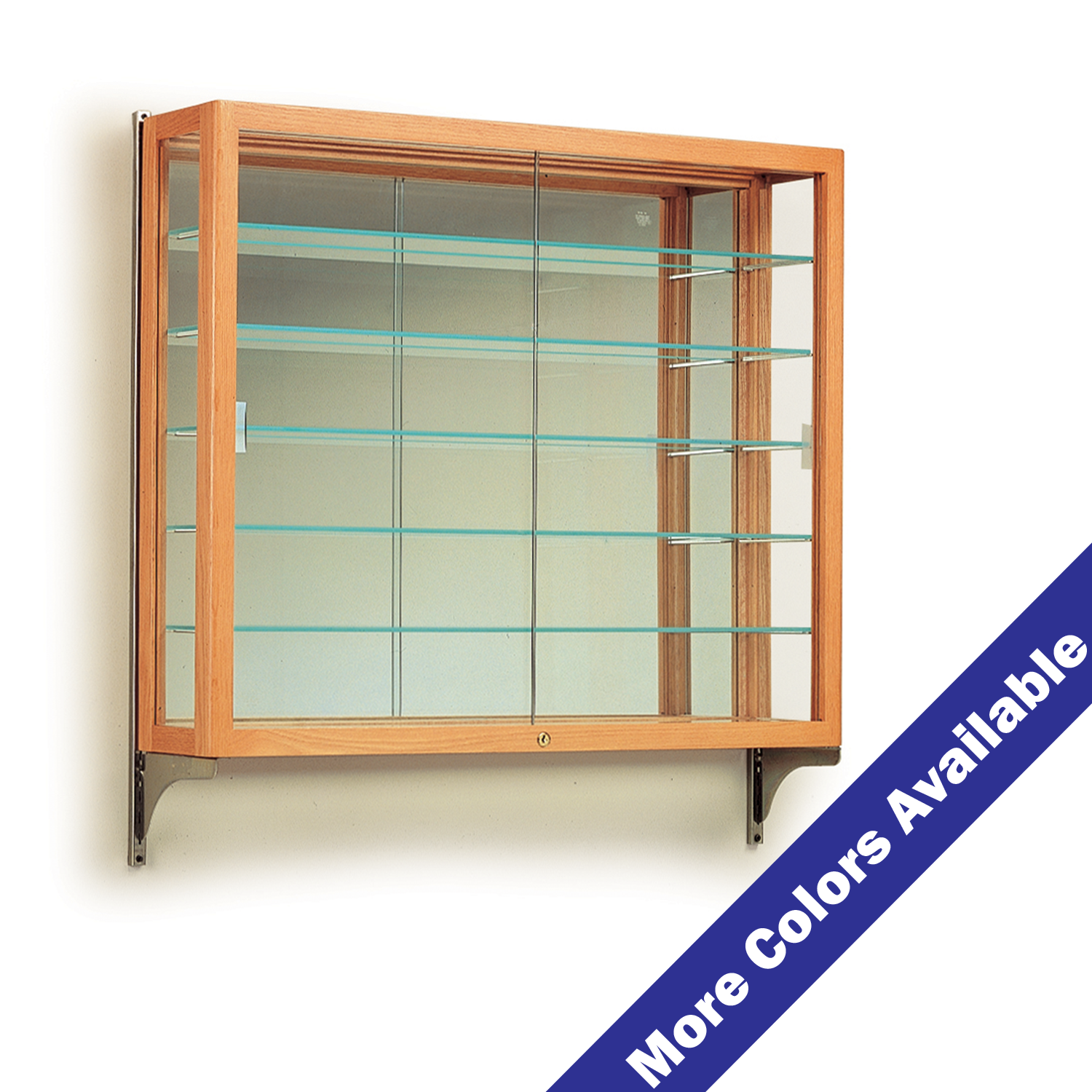 Wall Mount 5 Shelf Display Case With Mirrored Back Buy