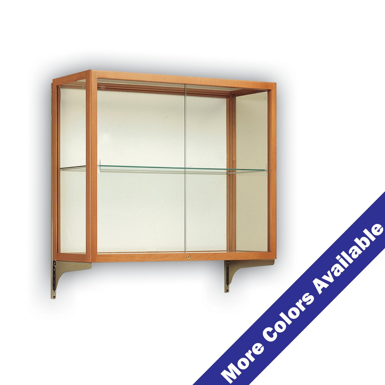 Wall Mount Wooden Mirrored Counter Top Single Shelf
