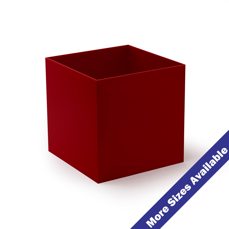 Red Acrylic 5 Sided Box Buy Acrylic Displays Shop