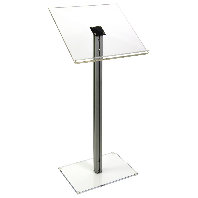 Acrylic Podium Lectern with Aluminum