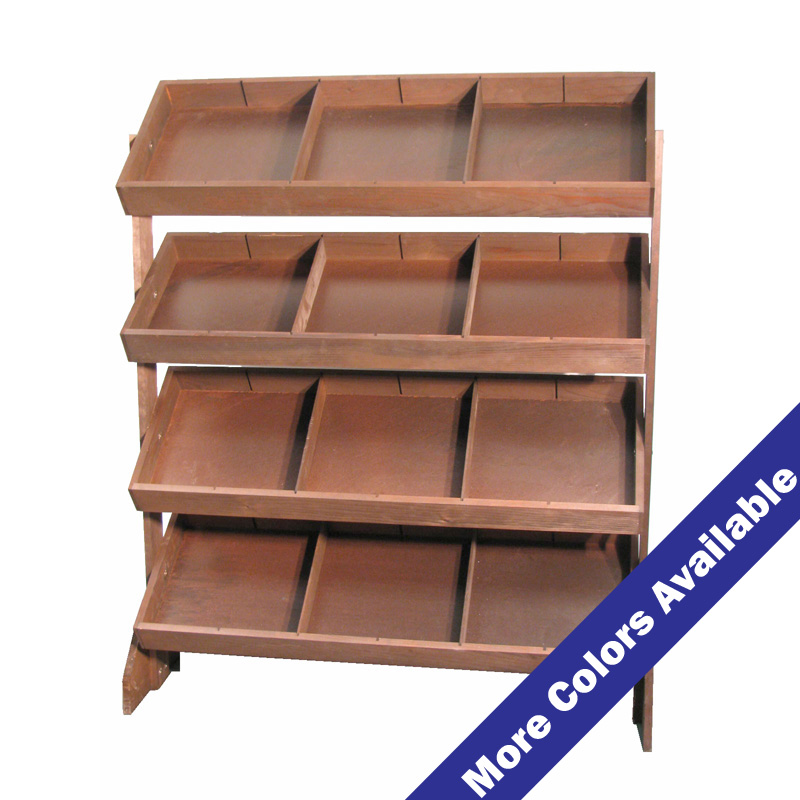 4 Tray Tilt Shelf Display With Dividers Buy Acrylic