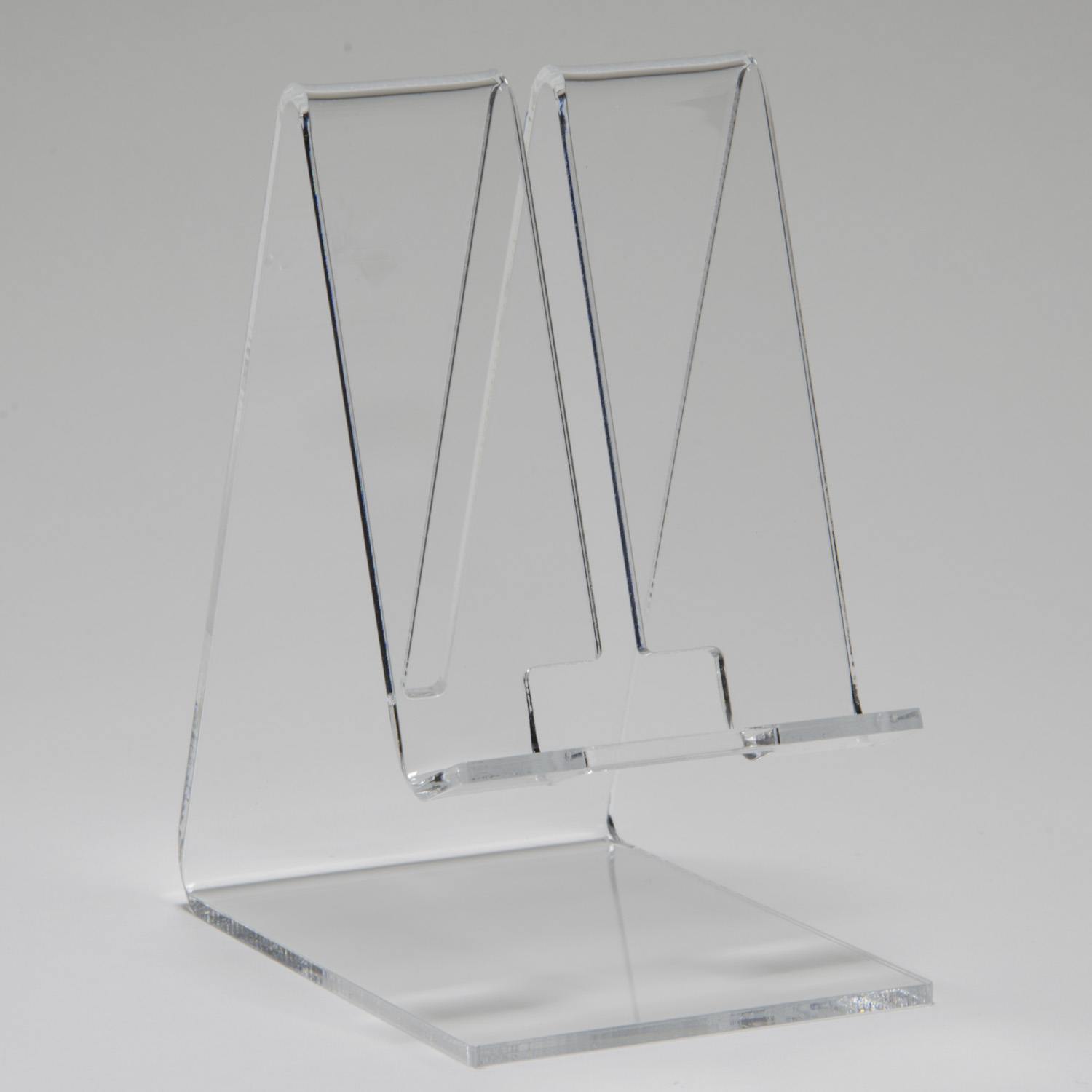 cell phone stand - clear