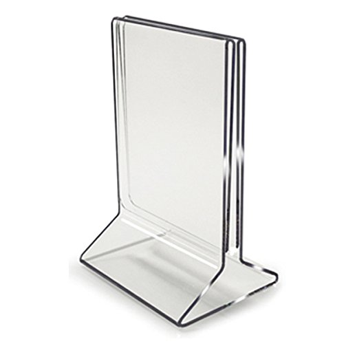 5x7 all in one menu holder table tent buy acrylic displays shop