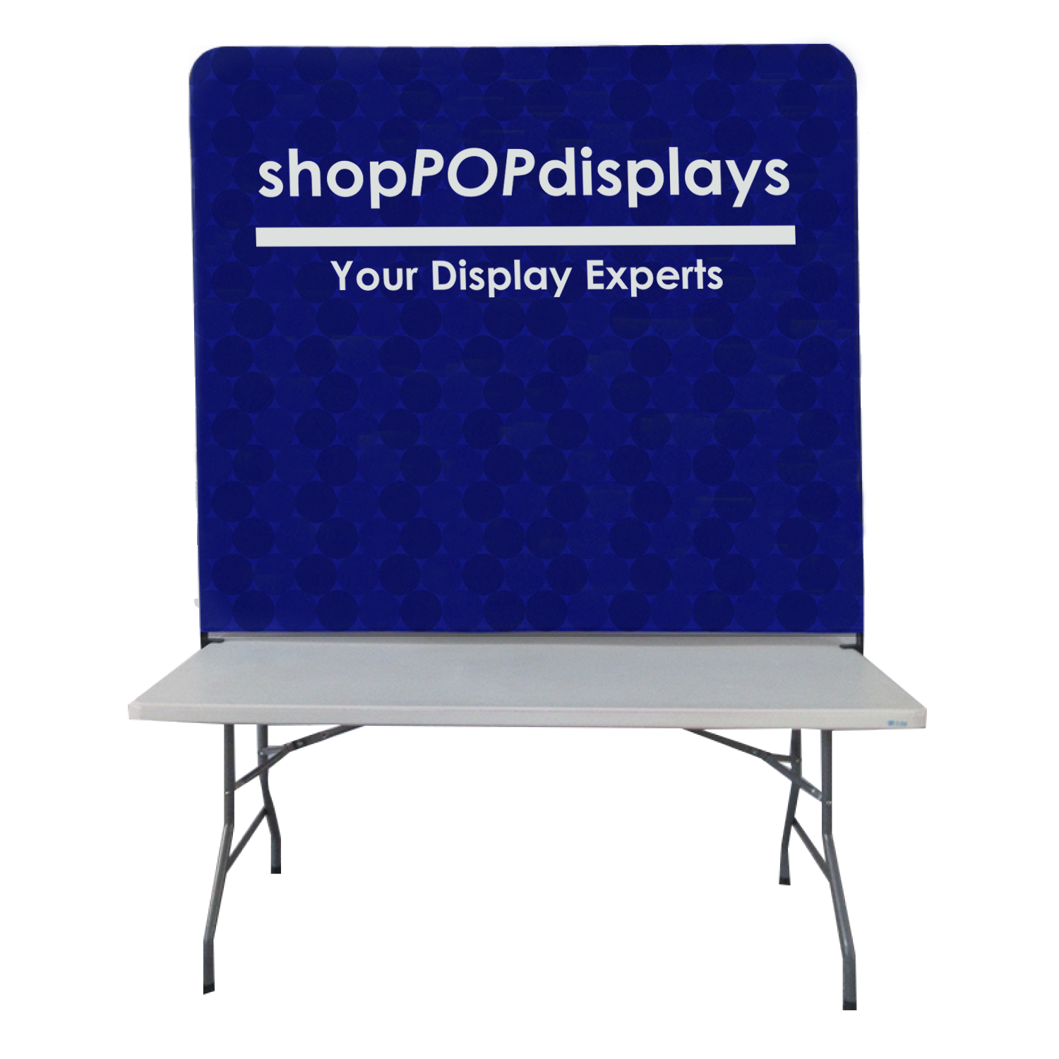 6 W Backwall Table Top Display Banner With Frame Custom